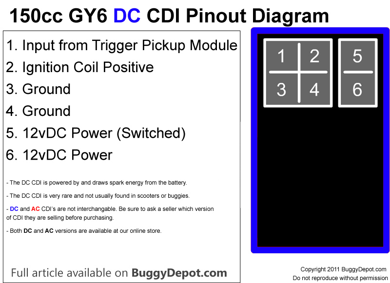 buggynews buggy forum \u2022 view topic update! spark when i jump dc 6 Pin CDI Wiring Diagram 2 from trigger pickup nothing from any of my 4 brand new dc cdis i doubt all 4 were doa