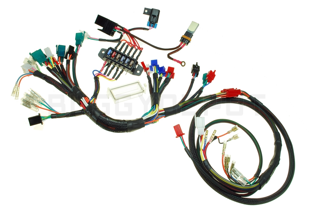 honda ruckus wiring harness routing wiring schematic diagramhow to install the bdx honda ruckus gy6 swap harness buggy depot honda 300 fourtrax wiring