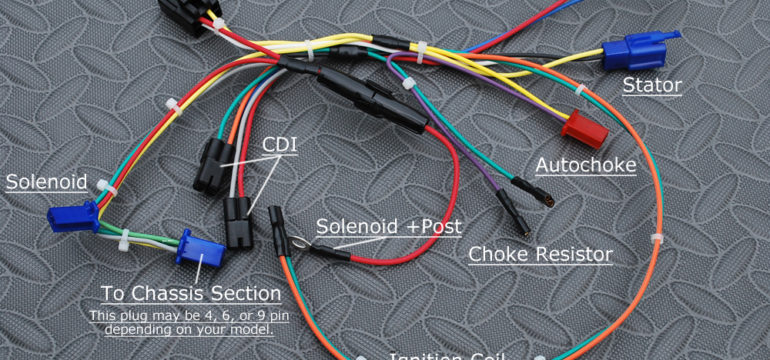 How to use an American-made BDX wiring harness on your 150cc Chinese engine