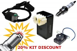 AC Ignition No Spark Tune-up Kit (CDI, Coil, Spark Plug, Sensor)