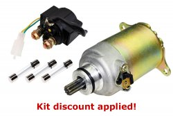 "GY6 150cc ""Won't Turn Over"" Solenoid Starter Tune-up Kit"