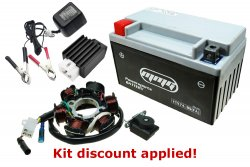 "GY6 150cc ""Won't Charge"" Battery Stator Rectifier Tune-up Kit [Type C]"